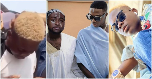 Teenager Who Edited The Controversial Photo Of Davido And Wizkid Sheds Tears Of Joy After Getting N1m From Singer (Video)