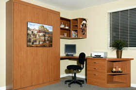 Customize Your Home Office With. Functional Design U0026 A Murphy Bed