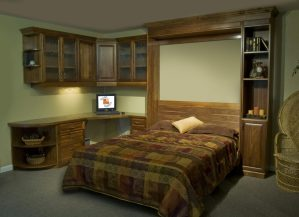 Murphy Bed Office Turned Guest Bedroom - Guest Bed Solution - SmartSpaces.com - Hidden Bed Opened