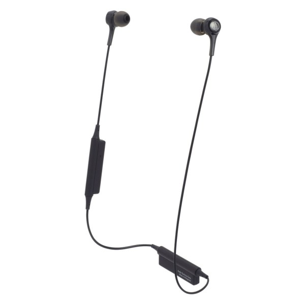 Audio-Technica Consumer ATH-CK200BT Wireless In-Ear Headphones with In-Line Mic Black 2