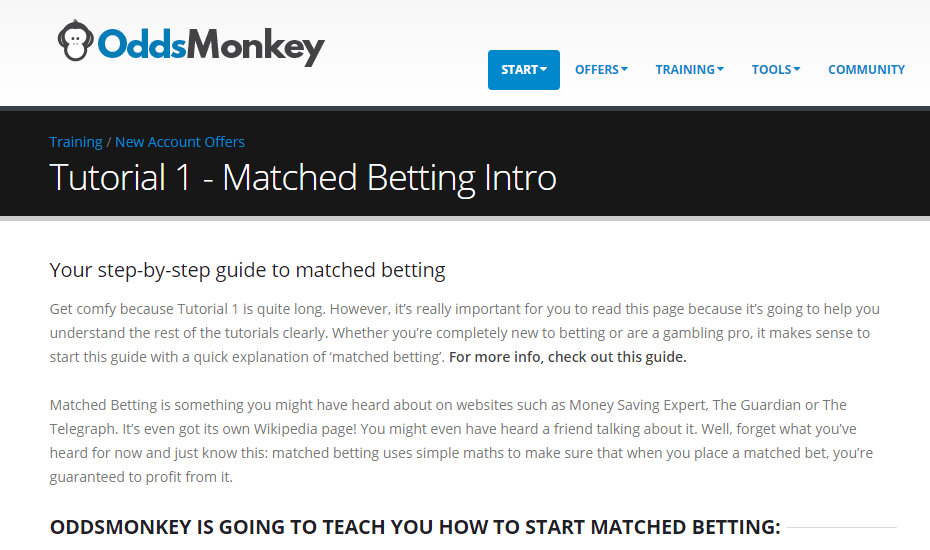 Oddsmonkey Review Matched Betting Tutorial
