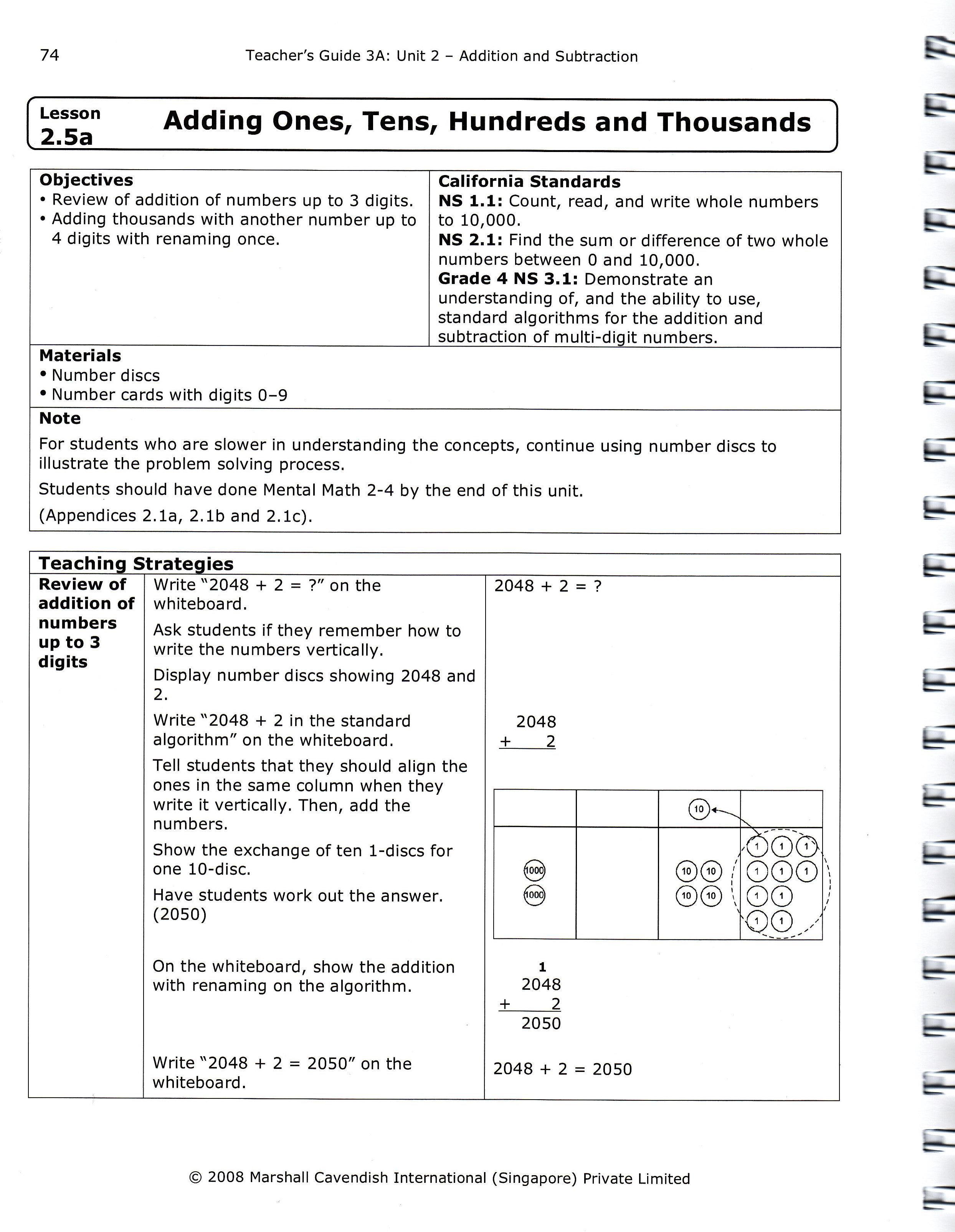 Comparing Singapore Math Materials Teacher S Guides