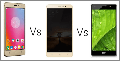 Lenovo K6 Power Vs Xiaomi Redmi Note 3 Vs LYF F1S