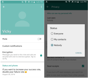 Hide status Latest WhatsApp Secret Tricks and Tips