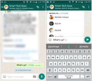 Whatsapp tricks to reply specific person in a group