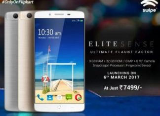 Swipe Elite Sense Launched, price, availability, specifications