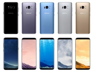 Samsung Galaxy S8+ and S8+ Colours