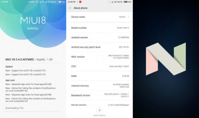 Xiaomi Redmi Note 4 Nougat Update