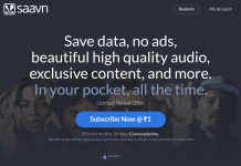 Saavan Music App Premium Subscription for free