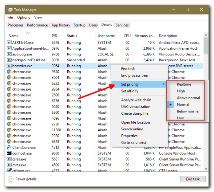 Set CPU Priority to Prefer Foreground apps
