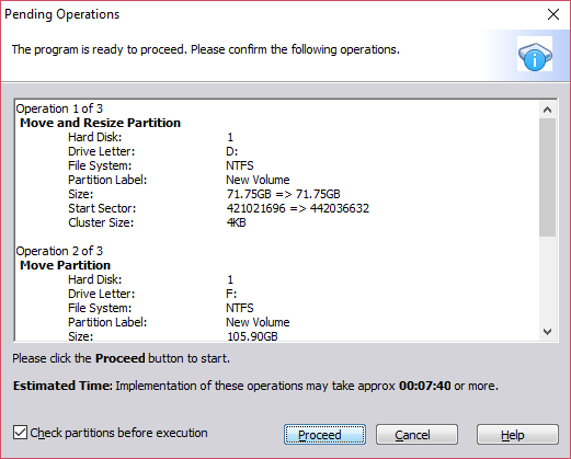 Extend C Drive in Windows 10