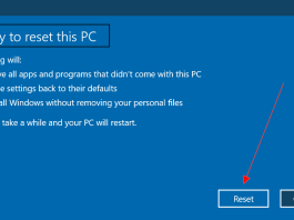 How to reset Windows 10 Without losing files