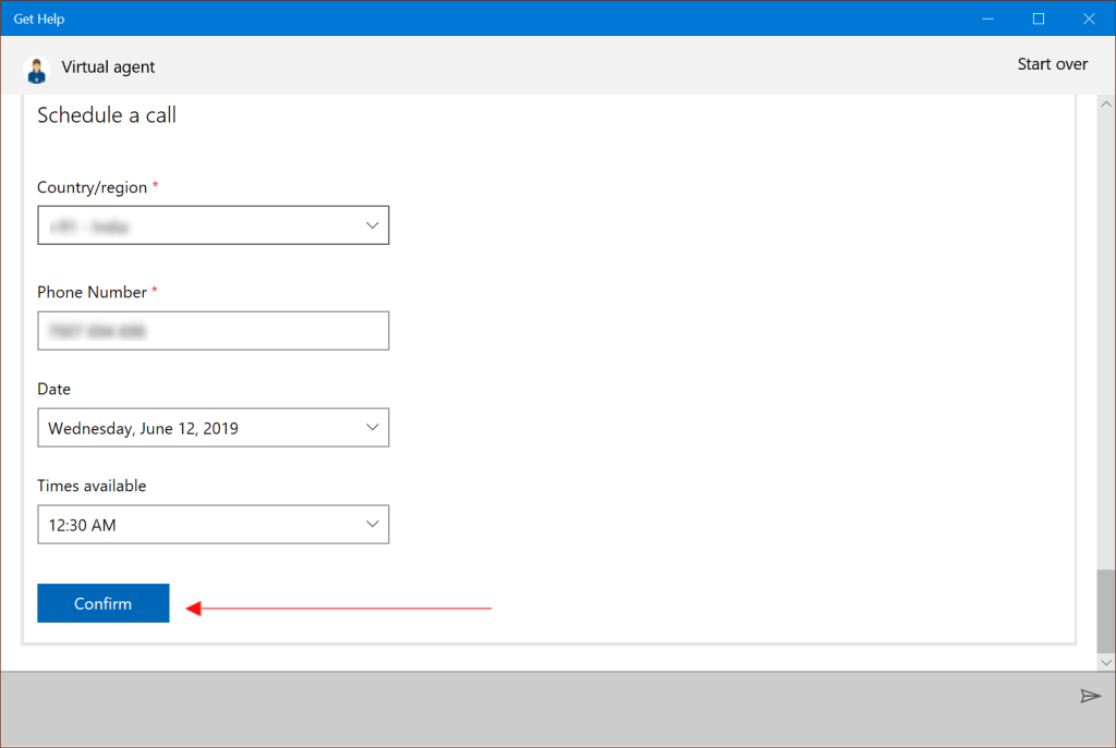 Schedule A Call Back From Microsoft Support Team
