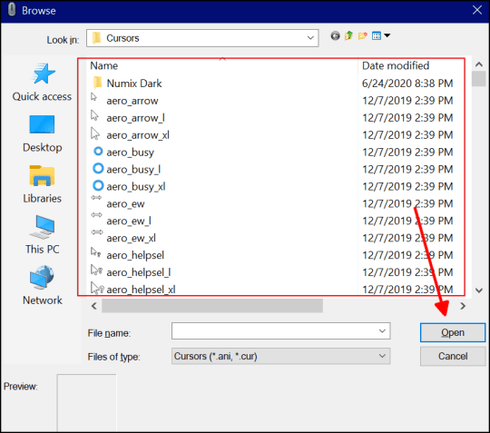 how to change your cursor on windows 10