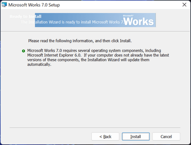 works for windows