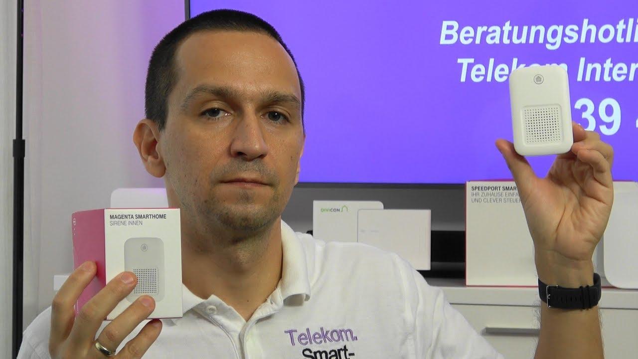 Telekom Magenta SmartHome Sirene innen (Innensirene Qivicon)