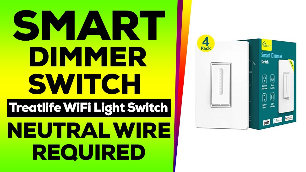 Smart Dimmer Switch, Treatlife WiFi Light Switch for Dimmable LED/Hal...