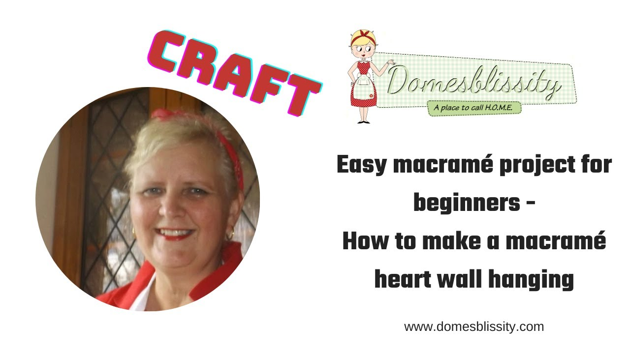 How to create an easy macramé heart wall hanging #easycraft #easymacr...