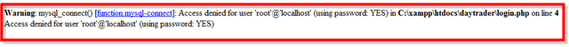 Access denied for user 'root'@'localhost'