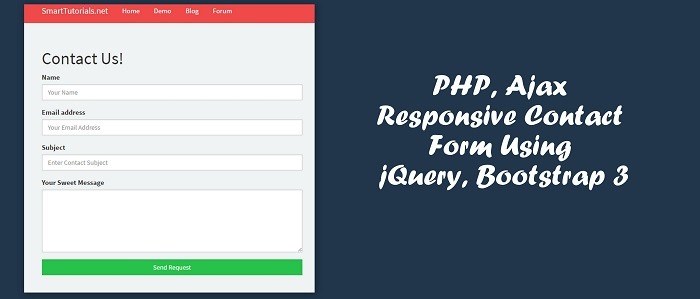 PHP Ajax Responsive Contact Form Using jQuery, Bootstrap 3