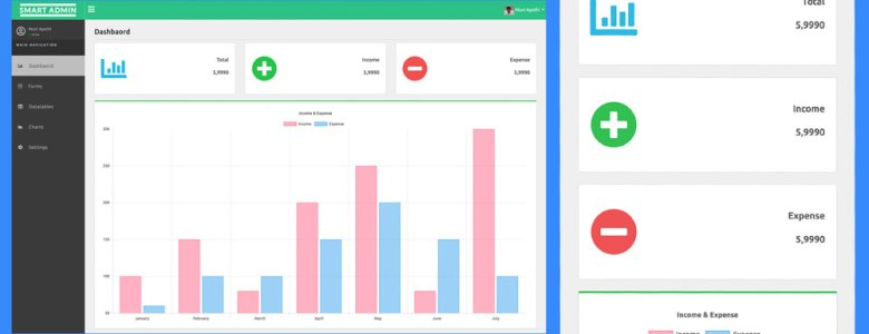 Free Responsive Admin Dashboard Panel Template Bootstrap4 HTML5 CSS3