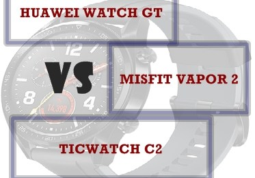 huawei watch Gt vs ticwatch c2 vs misfit vapor 2 compared