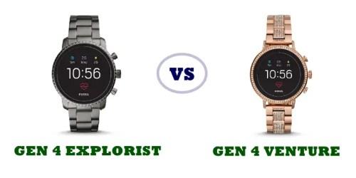 fossil gen 4 q venture vs gen 4 q explorist