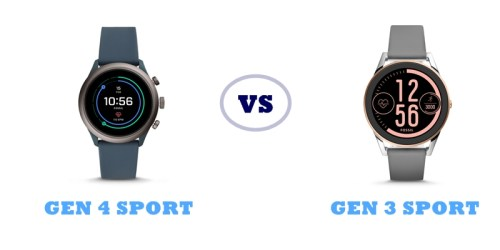 fossil gen 4 sport vs gen 3 sport compared