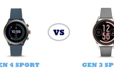 fossil gen 4 sport vs gen 3 sport compared