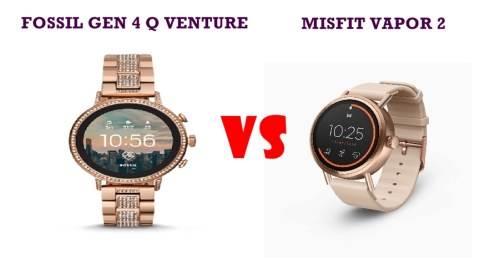 fossil gen 4 q venture vs misfit vapor 2 compared