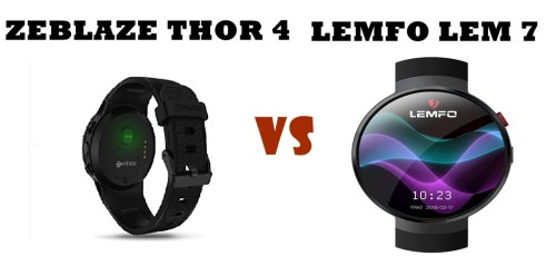 zeblaze thor 4 vs lemfo lem 7 compared head to head