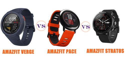Amazfit Verge vs Pace vs Stratos (Pace 2) Compared