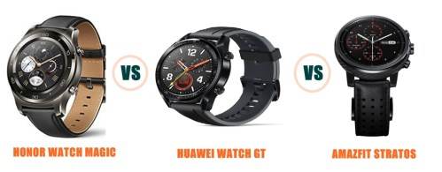 Honor Watch Magic vs Huawei Watch GT vs Amazfit Stratos Compared