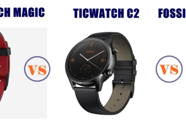 honor watch magic vs ticwatch c2 vs fossil gen 4 sport compared