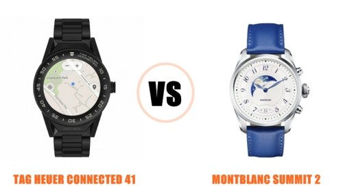 tag heuer connected 41 vs montblanc summit 2 compared head-to-head