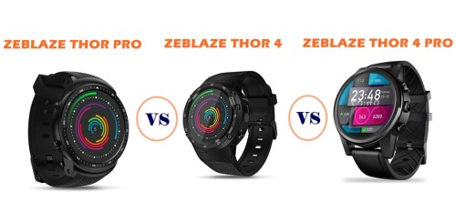 zeblaze thor pro vs thor 4 vs thor 4 pro compared