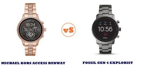 michael kors access runway vs fossil gen 4 explorist compared