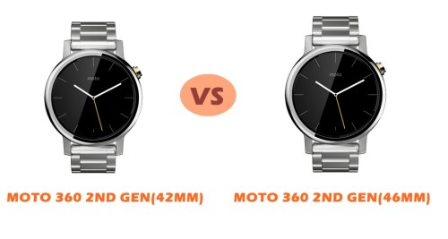 moto 360 2nd gen 46mm vs 42mm compared