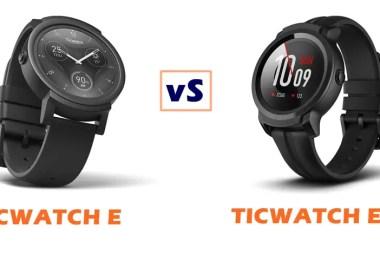 ticwatch e vs e2 compared
