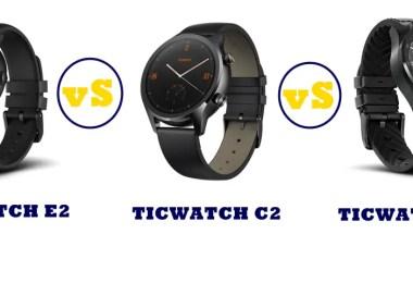 ticwatch e2 vs c2 vs pro compared