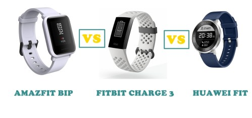 Amazfit Bip vs Fitbit Charge 3 vs Huawei Fit Compared | SMARTWATCH