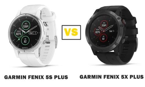 Garmin Fenix 5s Plus Vs 5x Plus Smartwatch Series