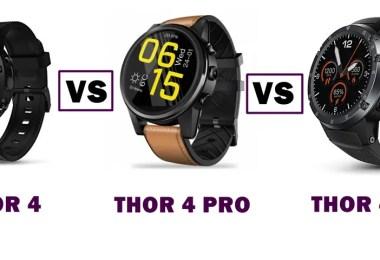 zeblaze thor 4 vs thor 4 pro vs thor 4 plus