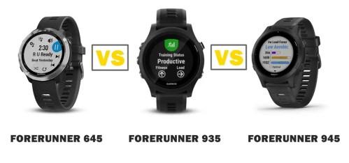 garmin forerunner 645 vs 935 vs 945 compared