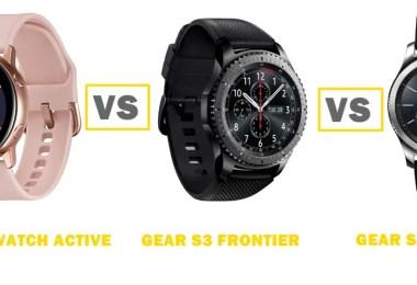 galaxy watch active vs gear s3 frontier vs s3 classic comparison