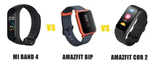 Mi Band 4 vs Amazfit Bip vs Cor 2 Compared | SMARTWATCH SERIES