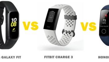 Mi Band 4 vs Samsung Galaxy Fit vs Fitbit Inspire HR Compared