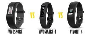 garmin vivosport vs vivosmart 4 vs vivofit 4