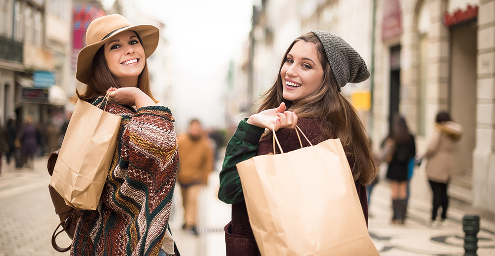 Women Shopping different types of shoppers