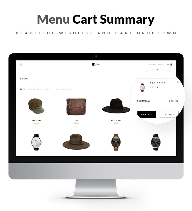 Artemis WooCommerce WordPress Theme Wishlist